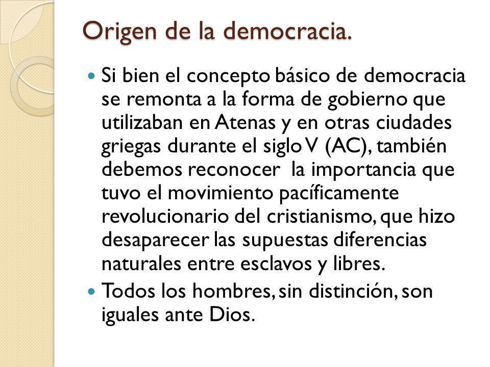 Origen de la democracia.