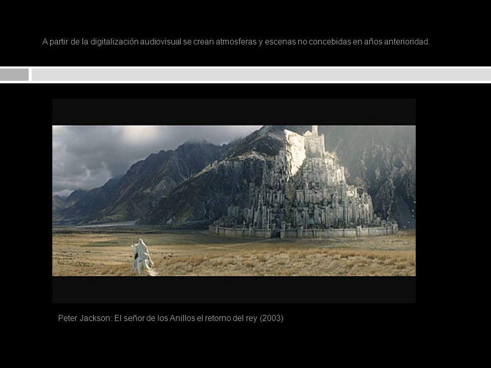 A partir de la digitalización audiovisual se crean atmosferas y escenas no concebidas en años anterioridad.