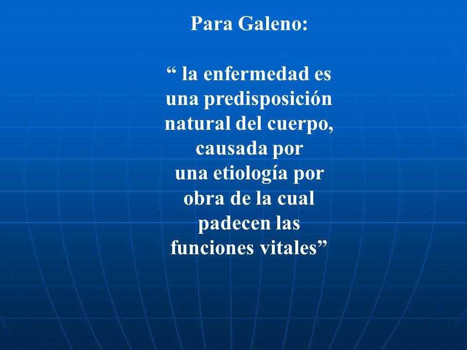 la enfermedad es una predisposición natural del cuerpo, causada por