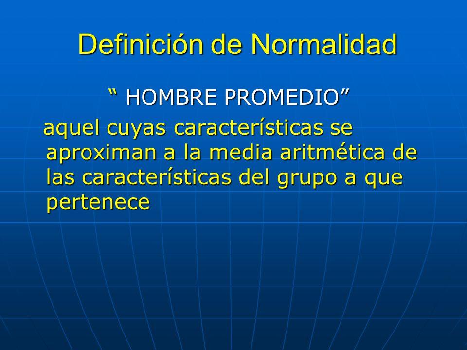 Definición de Normalidad