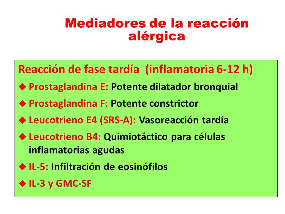 Mediadores de la reacción alérgica