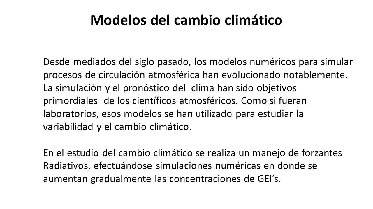 Modelos del cambio climático