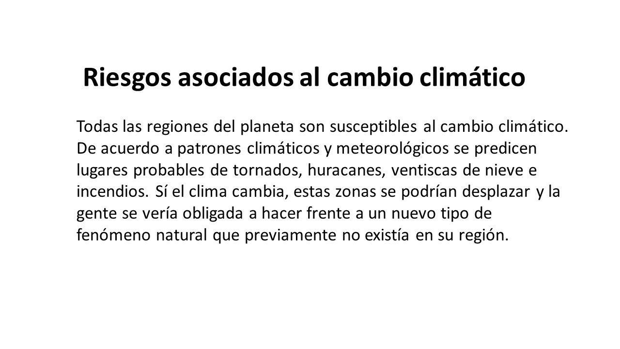 Riesgos asociados al cambio climático