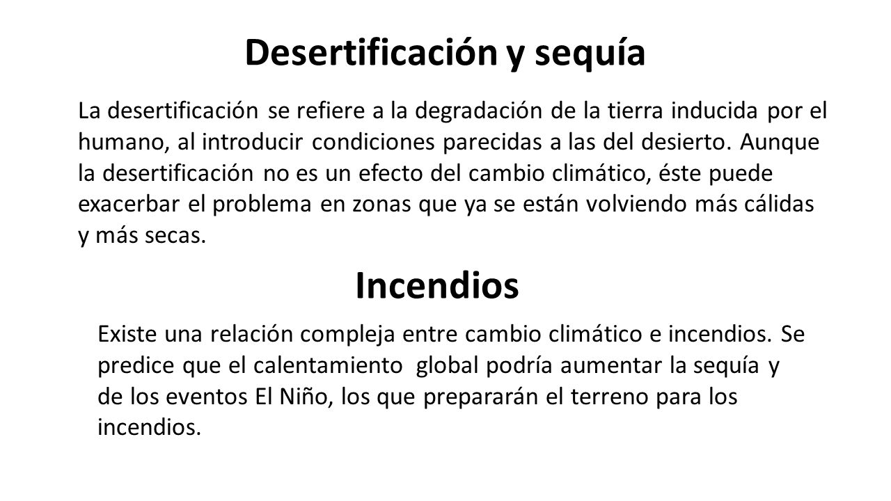 Desertificación y sequía