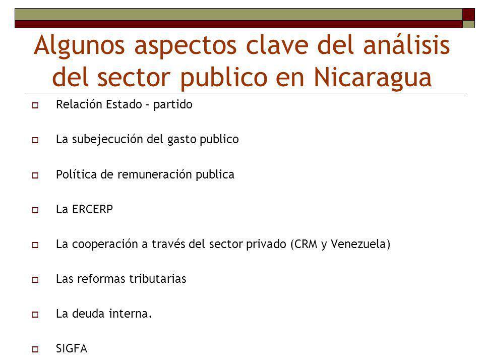 Algunos aspectos clave del análisis del sector publico en Nicaragua