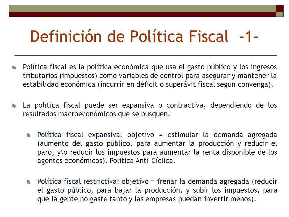 Definición de Política Fiscal -1-