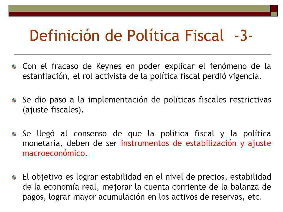 Definición de Política Fiscal -3-