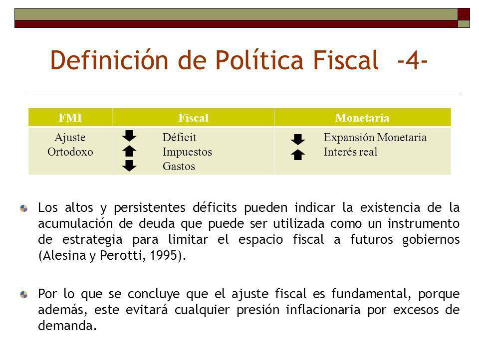 Definición de Política Fiscal -4-