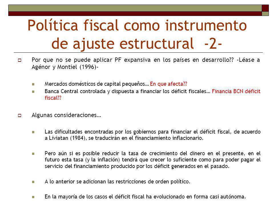Política fiscal como instrumento de ajuste estructural -2-