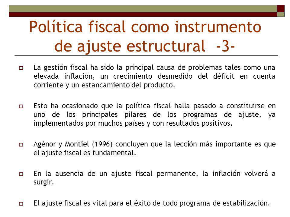 Política fiscal como instrumento de ajuste estructural -3-