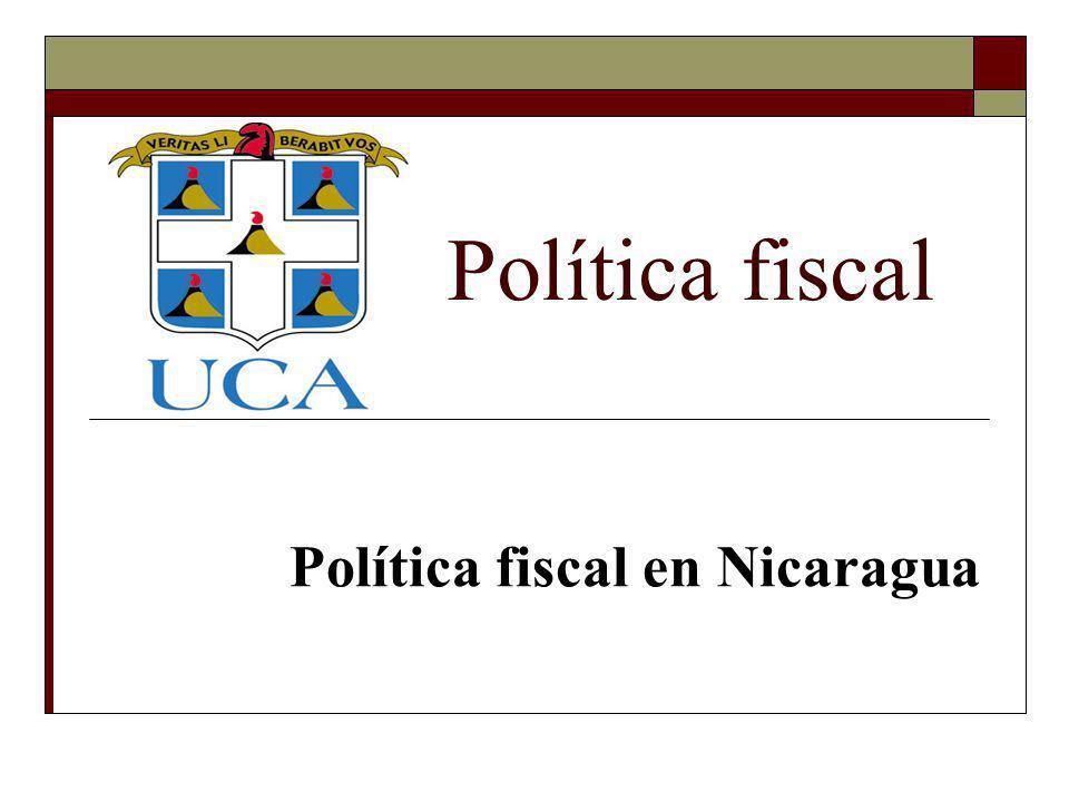 Política fiscal en Nicaragua