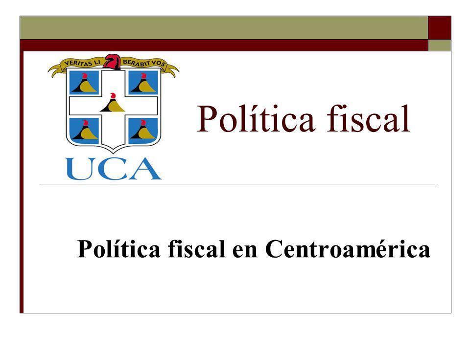 Política fiscal en Centroamérica