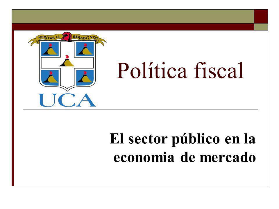 El sector público en la economia de mercado