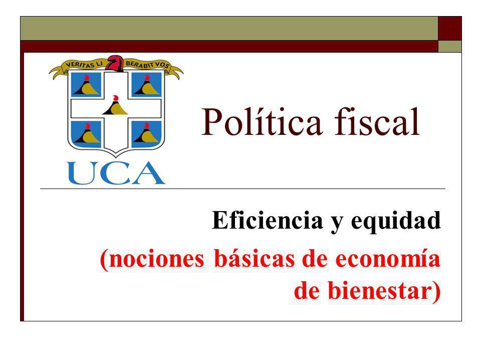 Eficiencia y equidad (nociones básicas de economía de bienestar)