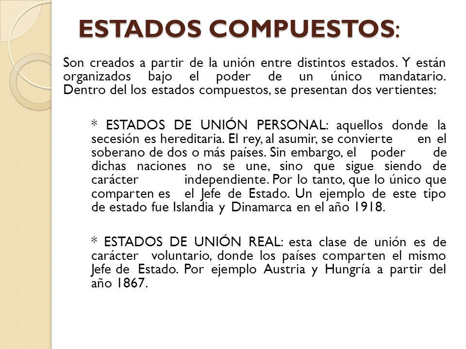ESTADOS COMPUESTOS: