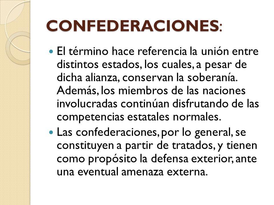 CONFEDERACIONES: