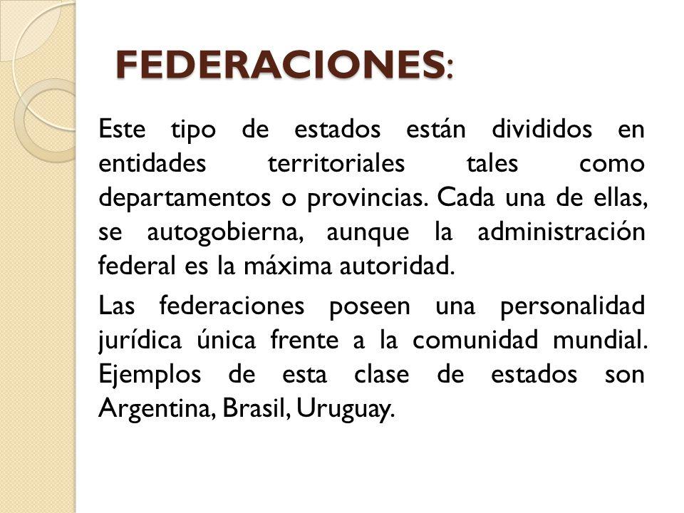 FEDERACIONES: