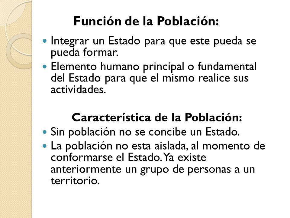 Característica de la Población: