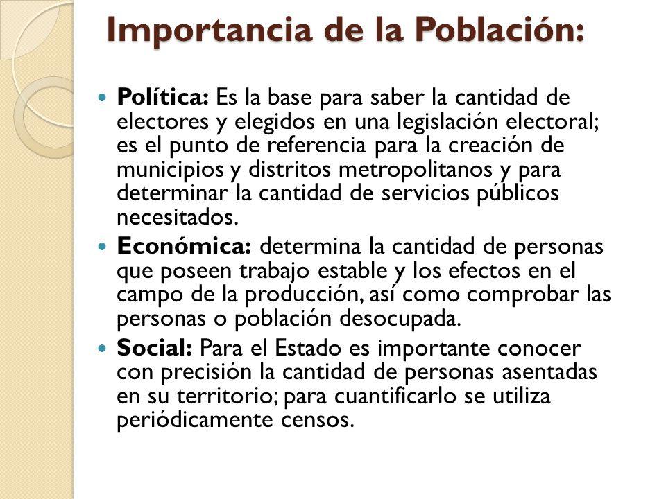 Importancia de la Población: