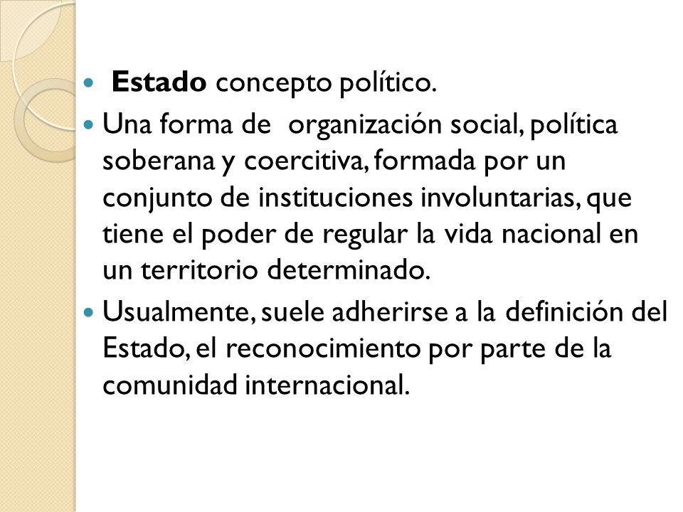 Estado concepto político.