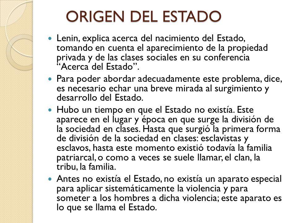ORIGEN DEL ESTADO