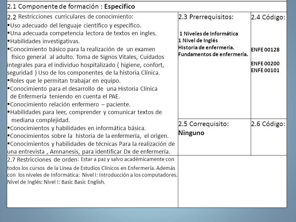2. Articulación con El Plan de Estudios