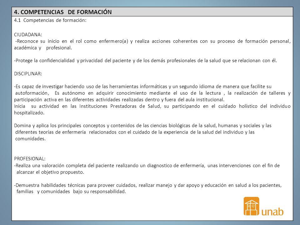 4. COMPETENCIAS DE FORMACIÓN