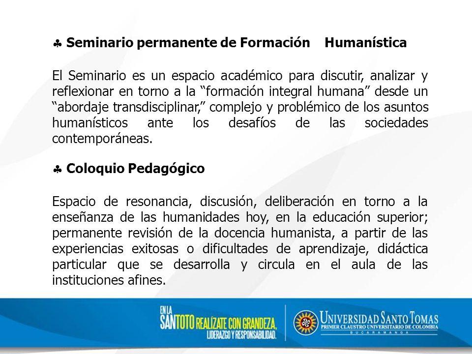 Seminario permanente de Formación Humanística