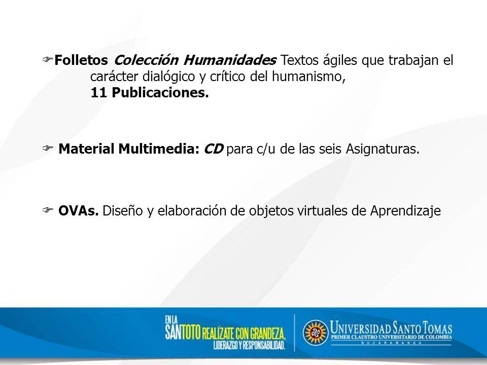 Folletos Colección Humanidades Textos ágiles que trabajan el