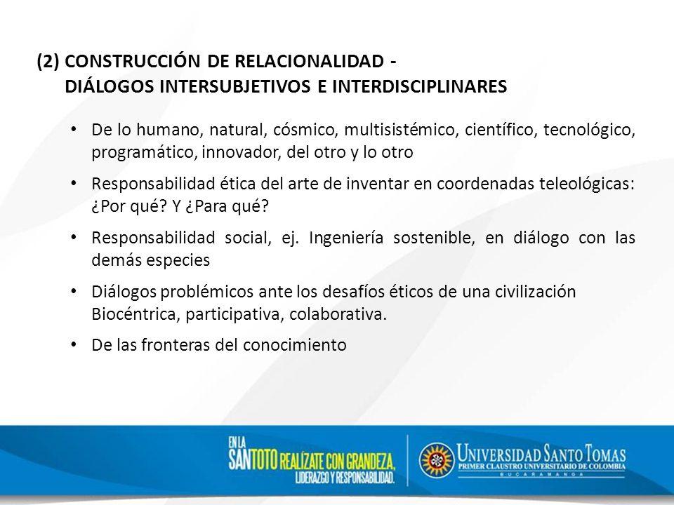 (2) CONSTRUCCIÓN DE RELACIONALIDAD -
