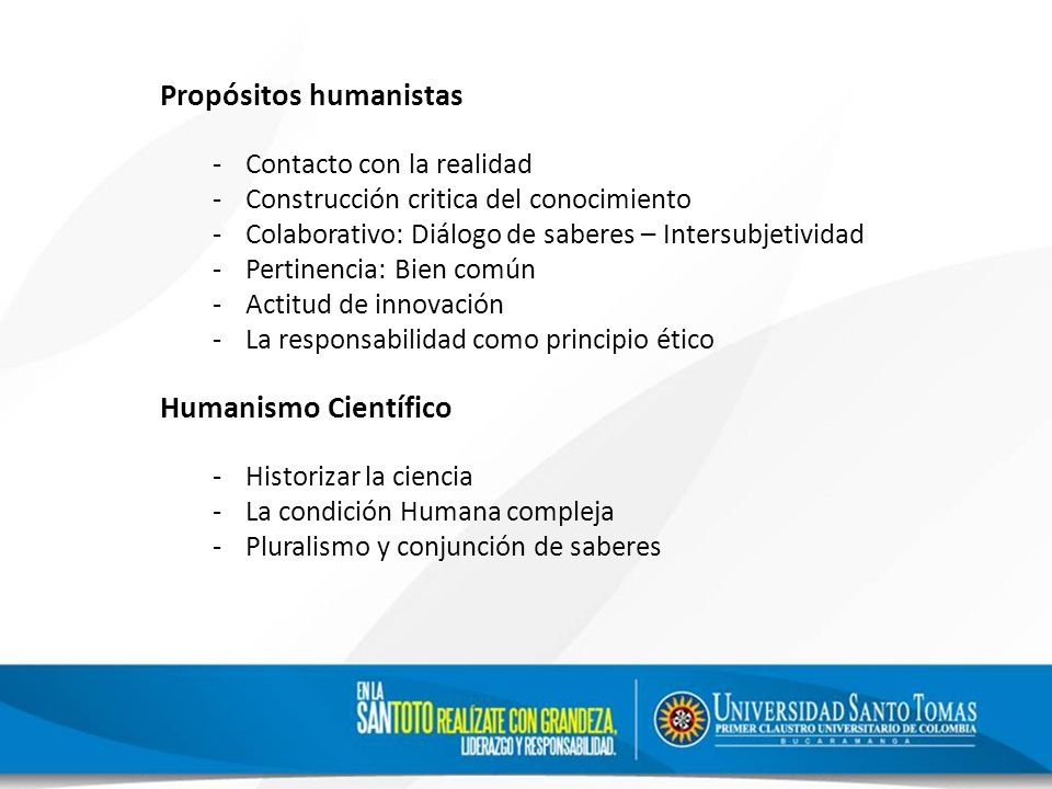 Propósitos humanistas