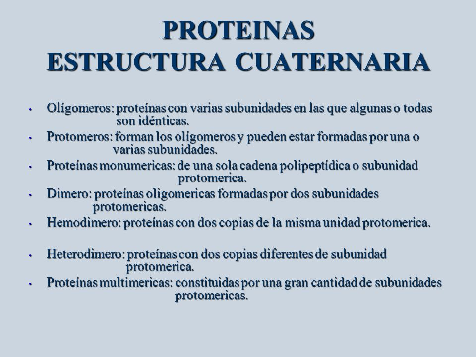 PROTEINAS ESTRUCTURA CUATERNARIA