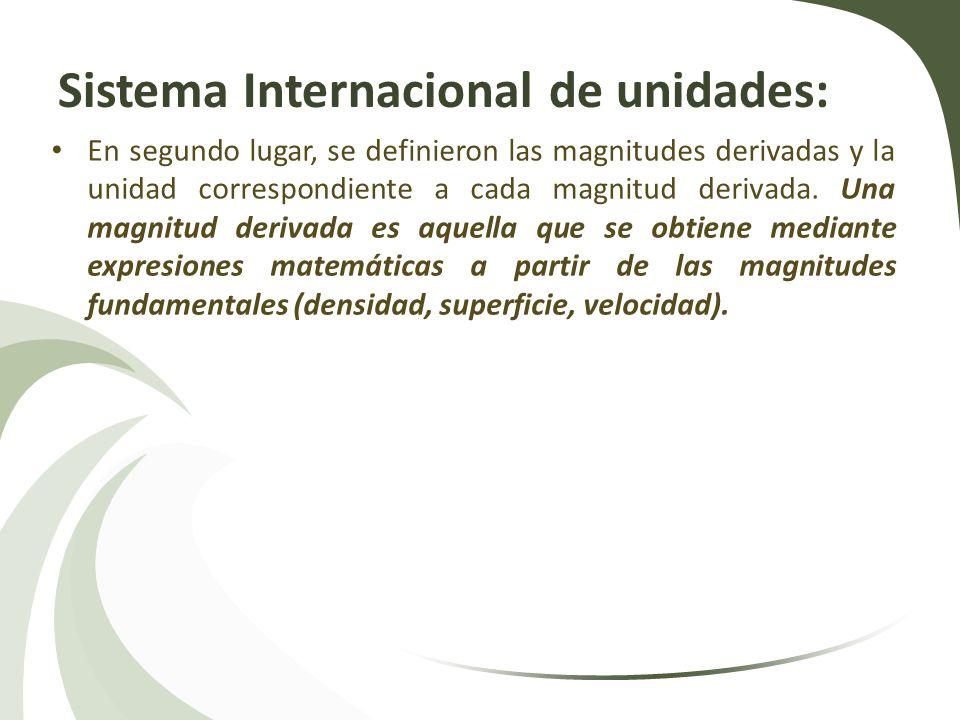 Sistema Internacional de unidades: