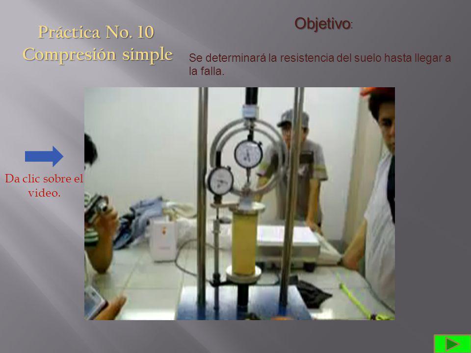Práctica No. 10 Compresión simple