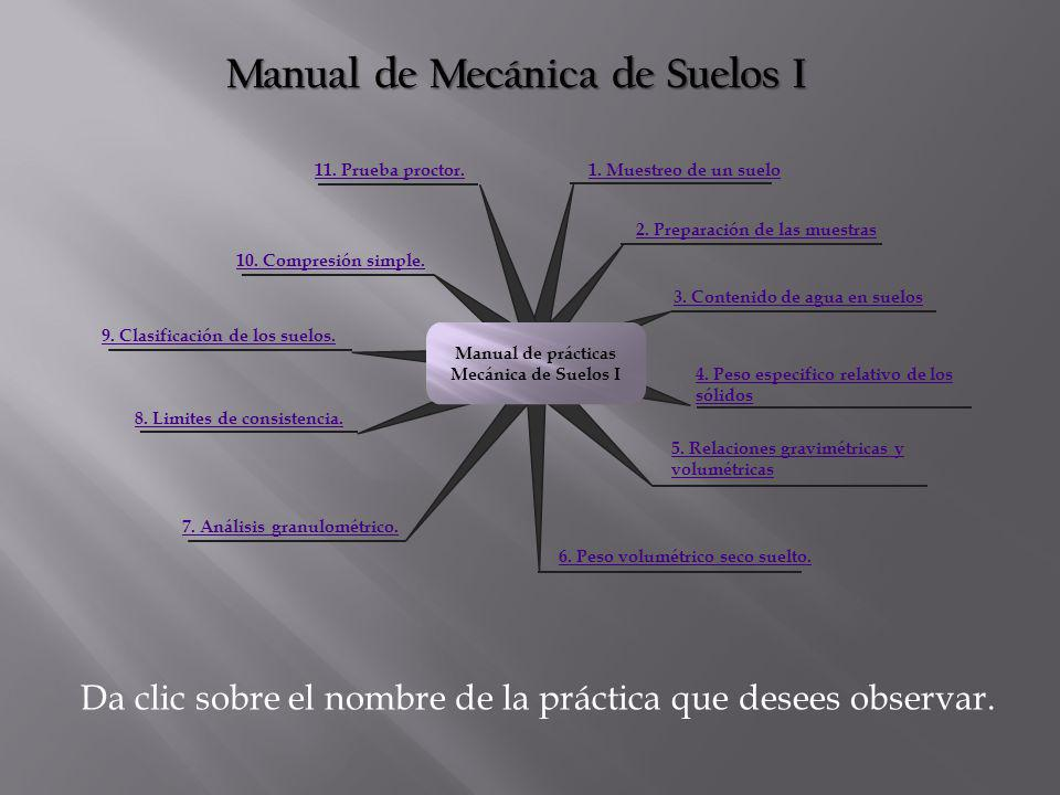 Manual de Mecánica de Suelos I