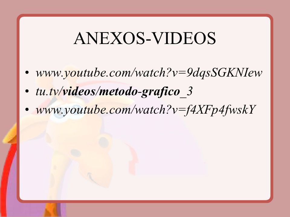 ANEXOS-VIDEOS www.youtube.com/watch v=9dqsSGKNIew