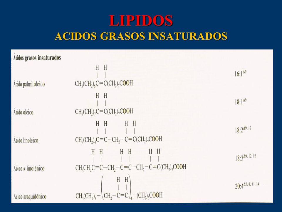 LIPIDOS ACIDOS GRASOS INSATURADOS