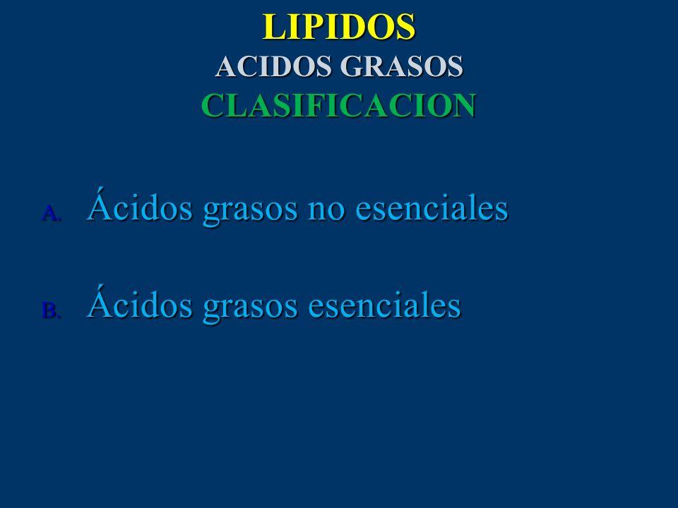 LIPIDOS ACIDOS GRASOS CLASIFICACION