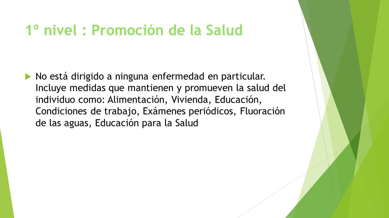 1º nivel : Promoción de la Salud
