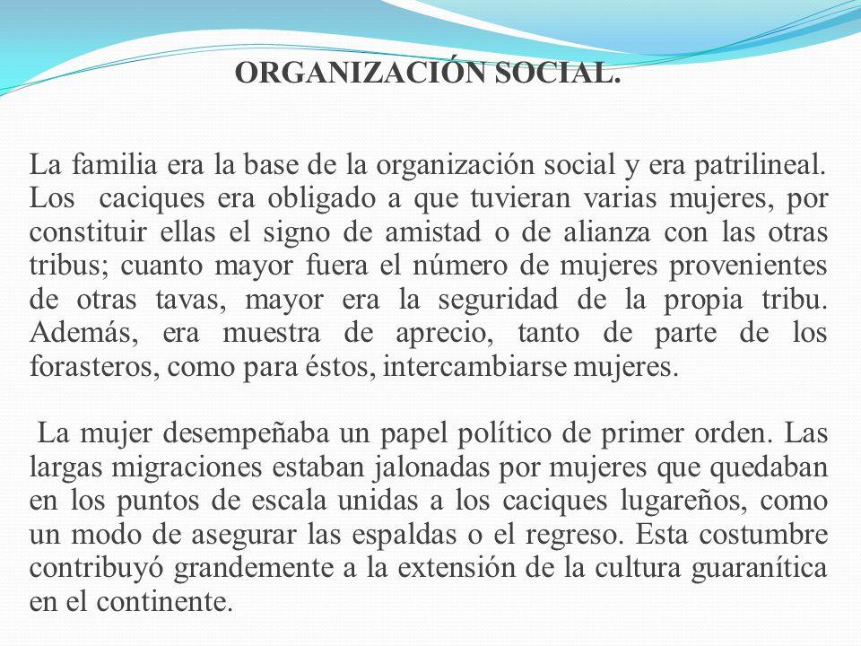 ORGANIZACIÓN SOCIAL.
