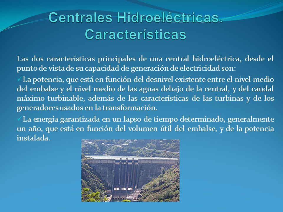 Centrales Hidroeléctricas. Características