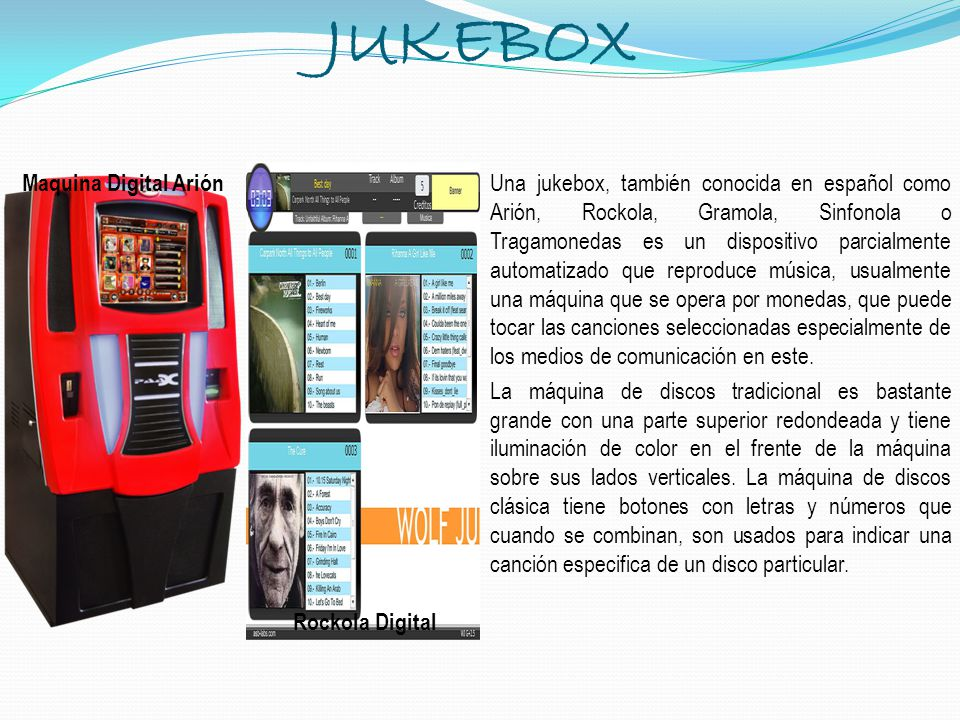JUKEBOX Maquina Digital Arión Rockola Digital