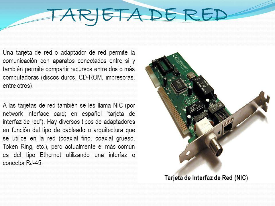 Tarjeta de Interfaz de Red (NIC)