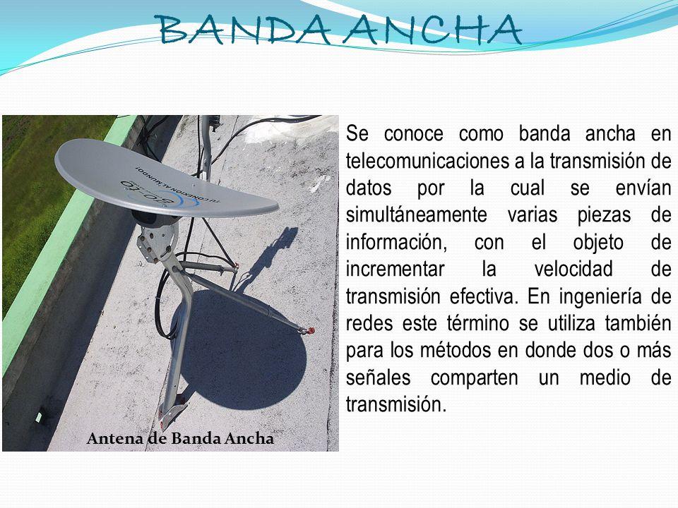 BANDA ANCHA Antena de Banda Ancha.