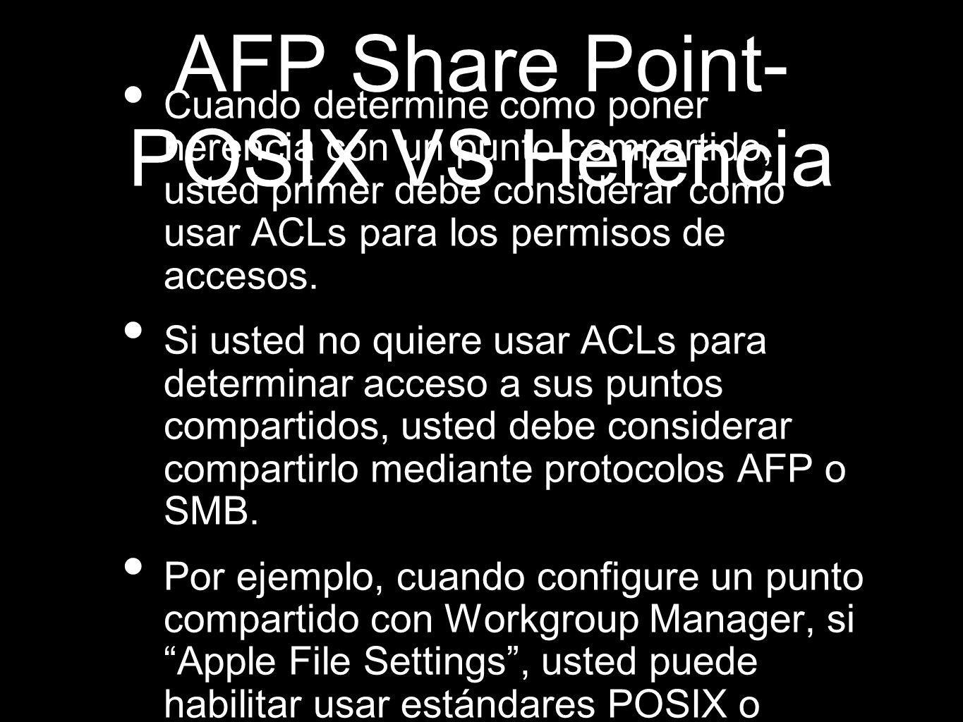 AFP Share Point-POSIX VS Herencia