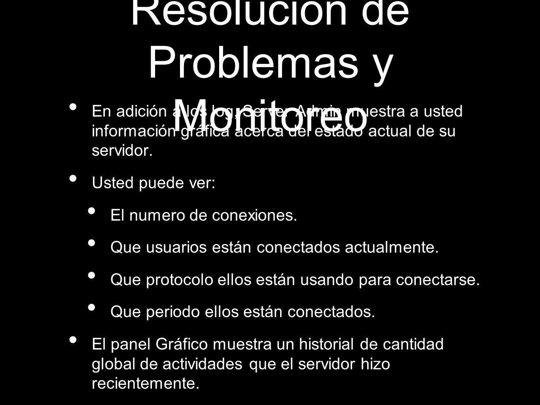 Resolución de Problemas y Monitoreo