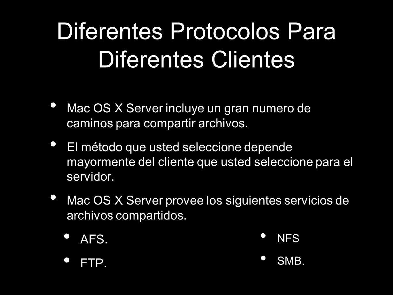 Diferentes Protocolos Para Diferentes Clientes