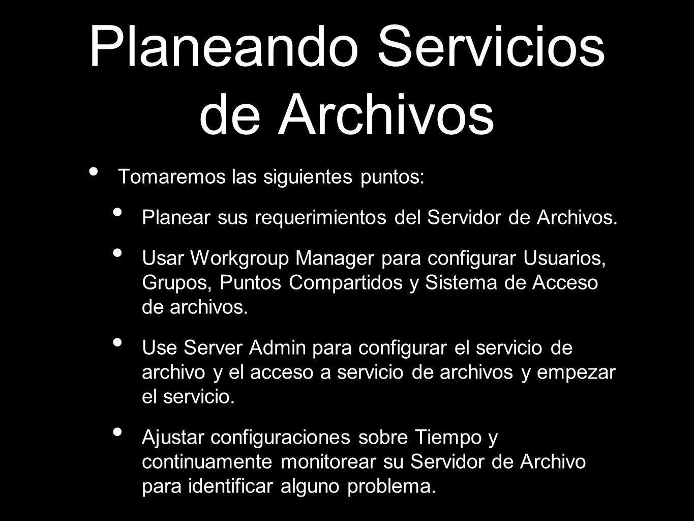 Planeando Servicios de Archivos
