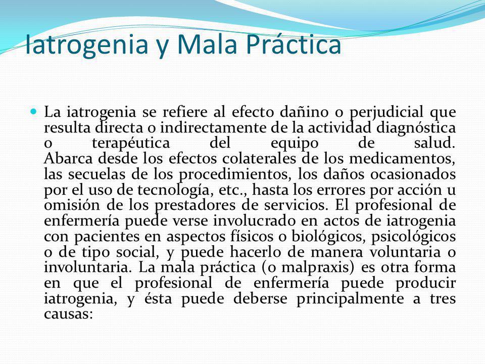 Iatrogenia y Mala Práctica