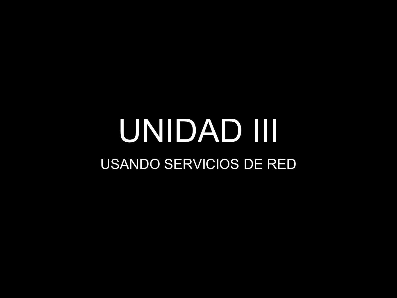 USANDO SERVICIOS DE RED
